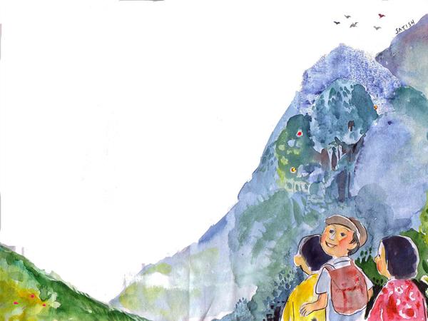 കുട്ടിപ്പട്ടാളത്തിന്റെ കേരളപര്യടനം 3 – എടക്കൽ ഗുഹയിലെ ശിലാചിത്രങ്ങൾ